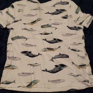 Whale shirt boys